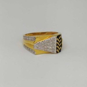 22 kt gold gents branded ring