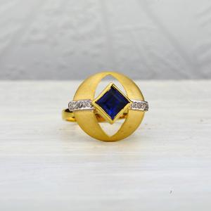 18kt gold gemstone ring lir06