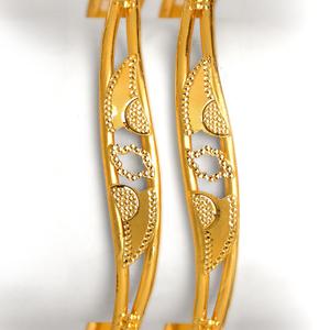22kt gold fancy copper kadali bangle bo-001