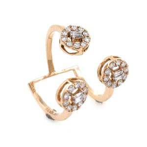 18kt / 750 rose gold fancy cocktail diamond l