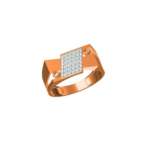 Exclusive men's wear fancy 18kt rose gold rin