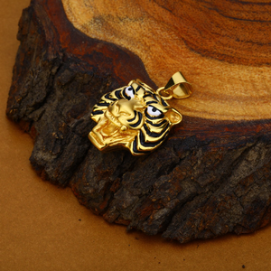 Exclusive 18k hollow gold tiger pendant-hlp60