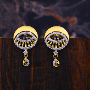 Ladies 22k gold fancy earrings-lfe146