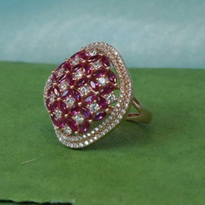 Sterling silver cz adorn glamorous square rin