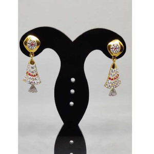 22k ladies latkan earrings