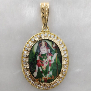 916 gold dipeshvari maa photo mina pendant