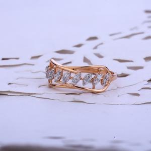 Rose gold ladies cz 18k ring-rlr67