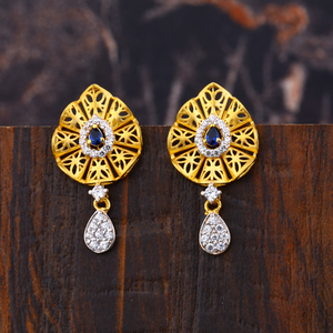 Ladies 916 gold earrings -lfe219