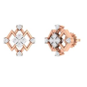 18kt rose gold real diamond designs for women