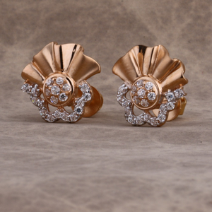 18kt cz rose classic gold  earring re223