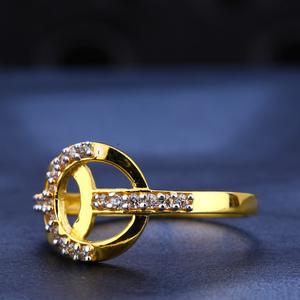 916 gold cz  hallmark stylish women's ring lr