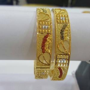 22kt gold designer bangle kada rh-b002