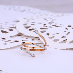 Ladies rose gold spring design 18k ring-rlr35