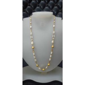 916 gold white gorgeous fancy mala