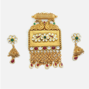 916 gold antique bridal pendant set rhj-6012