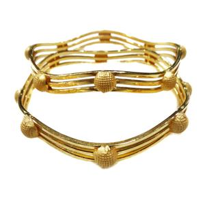 916 plain gold modern style kadli bangles mga