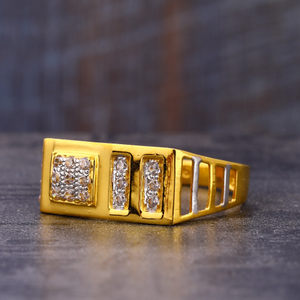 916 gold  gorgeous hallmark cz men's  ring mr