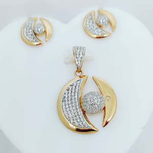 Gold cz chain p set  cps-0003