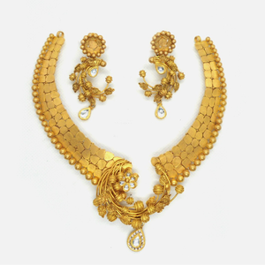 916 gold antique bridal jewellery set rhj-455