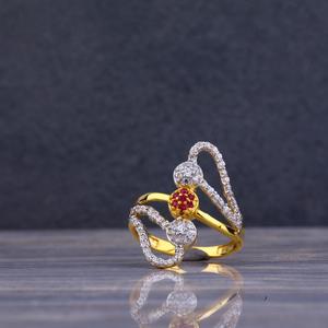 22kt gold designer cz ring llr73