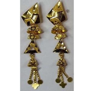 916 gold fancy earrings akm-er-065