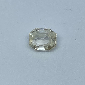 2.97ct octagonal yellow yellow-sapp