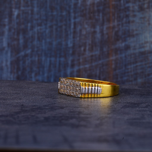 Mens gold 916 ring-mr276
