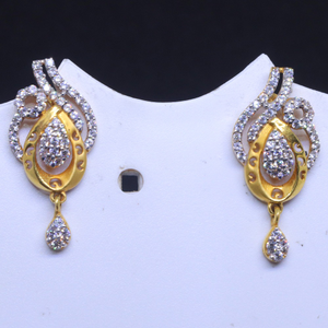 22kt / 916 gold traditional occasions cz earr