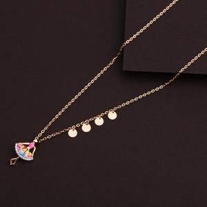 750 rose gold ladies necklace rtm97