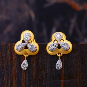 22kt gold exclusive women's cz  earring lfe31