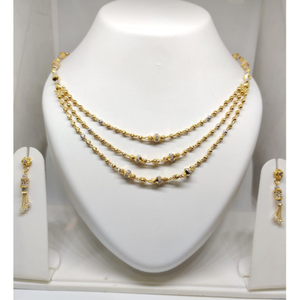 916 gold attractive mala with earrings jj-m03