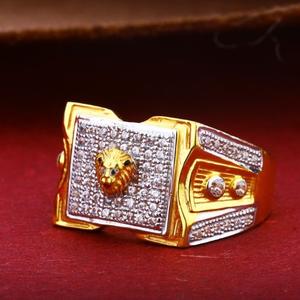 22kt gold gents lion ring rh-gr04