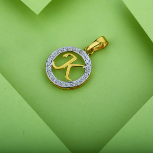 Gold letter k pendant-lp02