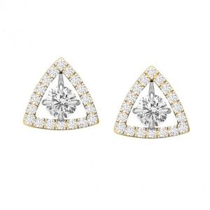 Triad drop earrings