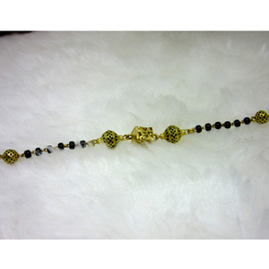 Gold oxidized ms black moti ledies bracelet