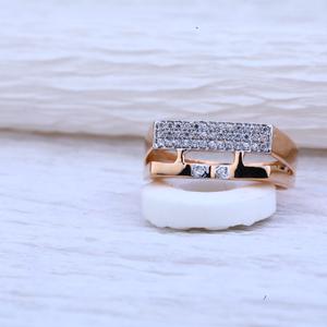 18kt rose gold cz ring rmr51