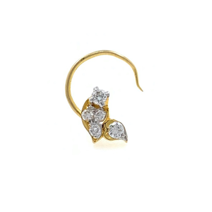 18kt / 750 yellow gold fancy nose pin np174