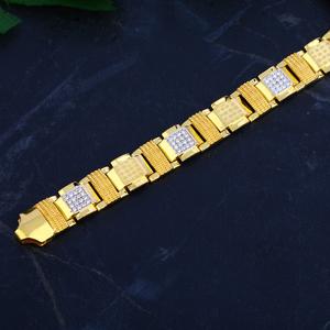 Mens gold bracelet-mcb65