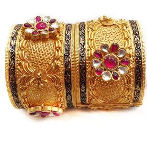 22k gold antique rajputana baloya mga - gp014