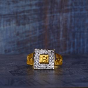 22kt gold om symbol ring mr491