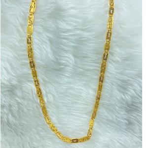 916 gold hollow box chain