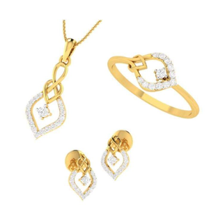 22kt yellow gold emilita combo pendent for wo