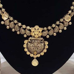22 carat antique jadtar bridal set