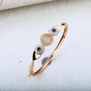 Rose gold 18k cz ladies kada-rlkb41