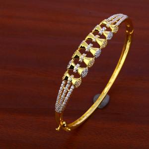 18ct cz gold designer bracelet kada lkb67