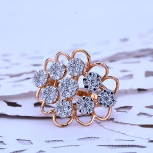 Ladies rose gold designer ring-rlr125