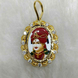 22kt gold swaminarayan bhagavan photo pendant