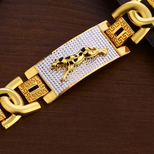 916 gold gentlemen's exclusive plain bracelet