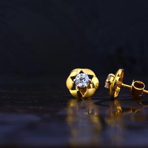 22kt gold designer solitare earring lse57