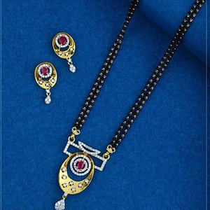 22kt gold antic colourful mangalsutra rh-ms02